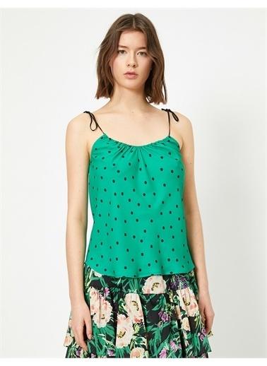 Koton Skirtly Yours Styled by Melis Agazat - Puantiyeli Atlet Yeşil